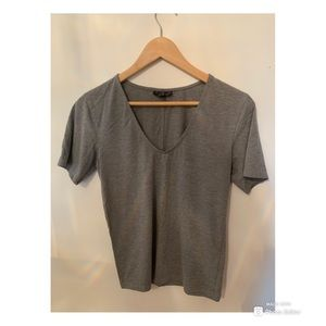 Gray V-Neck Top from Topshop